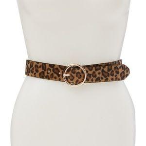 Linea Pelle | Reversible Faux Fur Leopard Belt XL